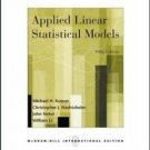 NEW Free EXPRESS Ship - Applied Linear Statistical Models - Kutner (5th Ed + CD)