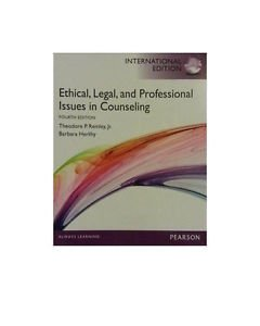 NEW [NOT INDIAN Ed] - Ethical Legal & Professional Issues in Counseling - Remley