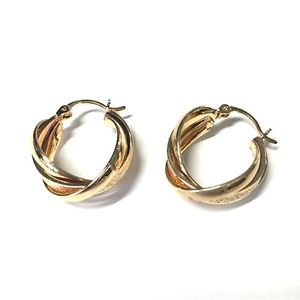 Adrienne Vittadini Studio 3 Twist Hoop Earrings