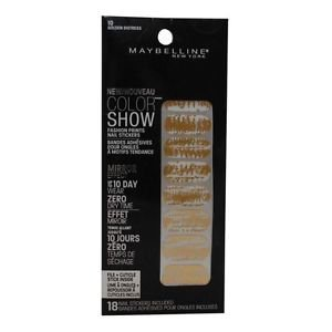 Maybelline Color Show Fashion Prints Nail Stickers #10 Golden Distress