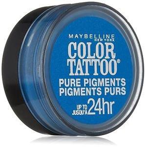 Maybelline Eye Studio Color Tattoo Pure Pigments, #10 Brash Blue, 0.05 Oz