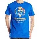 Copa America by Fifth Sun Men's Basic Logo T-Shirt, Royal, Medium