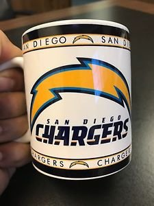 Custom Made San Diego Chargers 11oz Coffee Cup with your name.