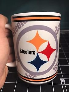 Custom Made Pittsburgh Steelers 15oz Coffee Cup with your name.