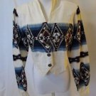 Roughrider Women's Western Shirt Size Medium Aztec Design Long Sleeve Cowgirl