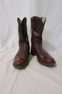 Laredo Cowboy Boots Vintage Size 8 1/2 D Men's Roper Brown Leather  Boots