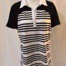 Women's Lauren Ralph Lauren Striped Shirt Top Size XL Black & White Stretchy