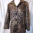 Chico's Animal Print Women's Coat Jacket size 2 Short Coat