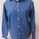 Talbots Blouse Shirt Women's Petites Size 4 Wrinkle Resistant  Blue Long Sleeve