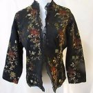 Chico's Women's Size 1 Light Weight Jacket floral multi colors.