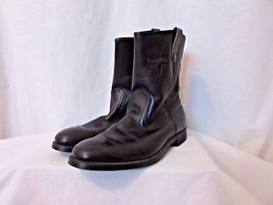 Mason Men's Boots Western Size 11B Black  Leather  Cowboy Or Motorcycle