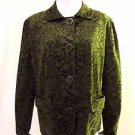 Talbots Petite Corduroy Jacket Coat Women's Size 16P Green & Brown Floral NEW