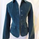 Talbots Petites Corduroy Jacket Blazer Women's 2 Green Unlined Button Front