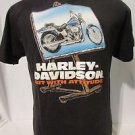 "Harley Davidson Youth T Shirt Large Short Sleeve  Black ""Art With ATTITUDE!!!!!"""