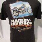 "Harley Davidson Youth T Shirt Large Short Sleeve  Black ""Art With ATTITUDE!!!!!"""