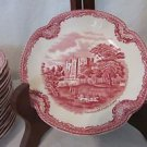 Johnson Brothers Saucer 16 Old Britain Kenilworth Castle Red Transfer Ware