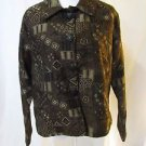 Chico's Women's Size 1 Tapestry Design Three Button Jacket