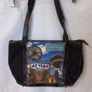 Las Vegas Tote Style Handbag Shoulder Bag Beaded Black Purse Casino