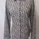 Talbots Women's 8P Long Sleeve Button Front Shirt. Multi Color With Flowers