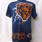 Chicago Bear's Men's T Shirt Large Blue with large bear face Short Sleeve