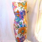 Talbots Petite Dress Women's 8 Floral Sleeveless Cutout Back Lined NWT Beautiful