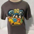 "Disney World T Shirt Women's Small Short sleeve Dark Gray ""Where the Party..."""