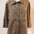 Lane Bryant Unconstructed Jacket Women's 22/24W Golden Green Floral Brocade