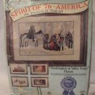 WASHINGTON AT VALLEY FORGE Crewel Embroidery Kit Paragon Patriot Vintage