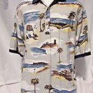 RJC Hawaiian Shirt Men's XL Pocket Short Sleeve Pullover Polo Style