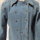 Harley Davidson Jean Jacket Women's Medium Military Denim Great Buttons