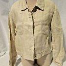 Talbots Irish Linen Jacket Womens Size 10 Beige Jacket Jean Jacket Style