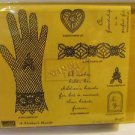 2003 Stampin Up A MOTHER'S HAND Retired Set Of 7 Wood Mount Stamps New Unmounted