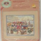 Cross Stitch Kit From the heart No Count Flower Market 1989 Helen Paul