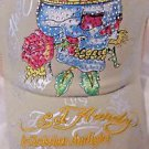 Ed Hardy Trucker Snapback  Ball Cap Tan With Skull,Crown, and Rhinestones NWT
