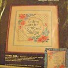 """Sisters are for Caring"" Cross Stitch Kit Dimensions partially finished kit"