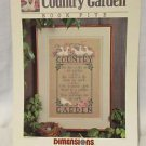 Counted Cross Stitch Booklet Country Garden  Pattern Nancy Rossi Dimensions