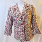 Talbots Womens Size 10 Floral Blazer  Three Button Front