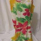 Jam's World Sleeveless Sun Dress Women's Small  Zipper Back  Hawaiian