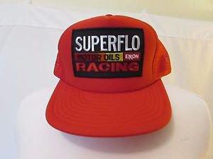 cfa852a55 Superflo Exxon Racing Motor Oils Vintage 80's Snapback Trucker Hat NWOT