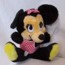 "Minnie Mouse Stuffed Plush Disney World Bean Bag 7"" Original Tag Disney Vintage"