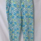 Talbots Petites Crop Pants Women's 12 Bright Colors Stretch Fabric Flat Front