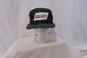 Vintage Snapback Trucker Hat Carter Vend Green White