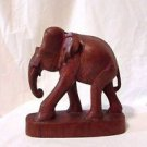 Wooden Hand Carved Elephant Figurine Statue Vintage