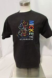Mickey Mouse T Shirt Large Short Sleeve Embellished Black Crewneck