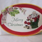 "MERRY CHRISTMAS"" FITZ AND FLOYD Sentiment Tray DEAR SANTA Collection  9"