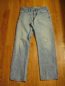Levi's 505 Men's  Jeans 34 x 34 Regular Fit  Jean's 100% Cotton Distressed