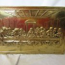 Hammered Brass Last Supper Plaque Handmade England Vintage