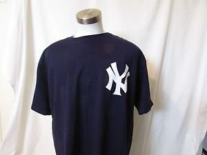 New York Yankee's Derek Jeter T Shirt Men's XL Number 2 Pullover Majestic NWOT