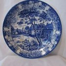 Beautiful Rare Vintage Blue/White Porcelain Serving Platter Round 14''