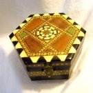 Sorrento Wood Inlay Jewelry Music Box Hexagon Shape